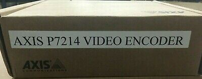 New Axis Communication Inc 0417-004 P7214 4-channel Video Encoder