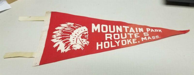 Vintage Mountain Park Defunct Amusement Park Pennant Holyoke Mass Massachusetts