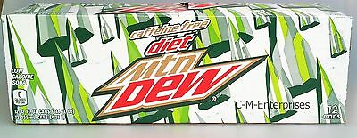 Mountain Dew Diet Caffeine Free Soda 12 Pack Mtn Dew