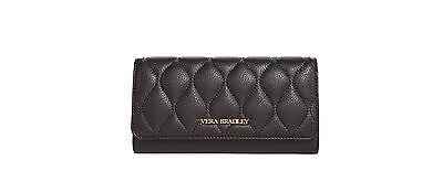 Vera Bradley Leather Quilted Audrey Wallet in Black Audrey Clutch In Black