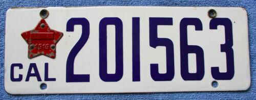 1919 California Porcelain License Plate # 201563