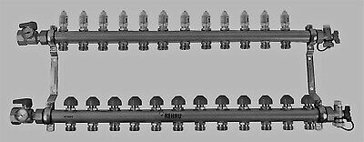 Rehau Stainless Steel Pro-balance Radiant Heat Manifold- 12 Circuit 381112-001