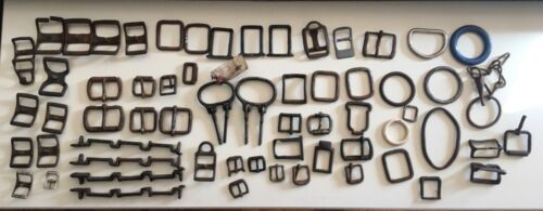 40+ Vintage Horse Items - Harness Buckles - Misc Harness & Hame Parts