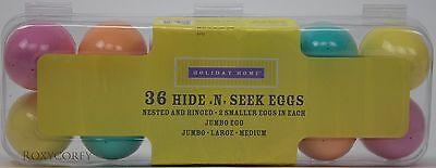 Holiday Home 36 Hide n Seek Plastic Easter Eggs in Egg Carton NIP](Halloween Hide N Seek)