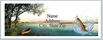 Personalized Address Labels Fishing Buy 3 get 1 free (P 581)
