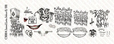 1/10 Scale Jared Leto Joker Suicide Squad Tattoo Decals for 7 inch - Jared Leto Tattoo