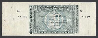 Spain   El Banco De Espana  Bilbao  Unissued 100 Pesetas  1937 Ps565s Specimen