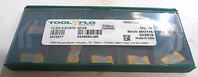 TOOL-FLO, CARBIDE INSERTS, FLDC-3-8VR75, GP3R, 10 IN A PACKAGE