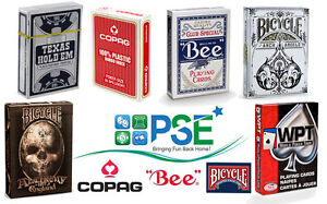 BICYCLE-BEE-COPAG-WPT-POKER-PLAYING-CARDS-SINGLE-DECKS-JUMBO-STANDARD-PEEK-INDEX