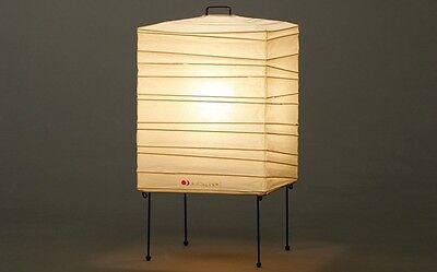 Isamu Noguchi Akari 1X Floor/Table Lamp Washi Paper Japanese Light Handcraft