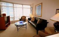 AUG 2014! 2BR+DEN Fully Furnished,City & Ocean View #1702