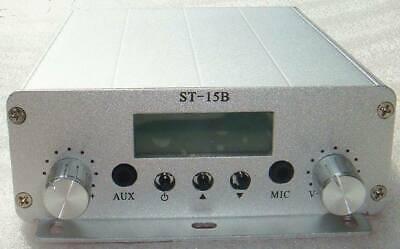 Dual Mode 1.5w15w 87mhz-108mhz Fm Broadcast Transmitter Stereo Pll Fm Radio