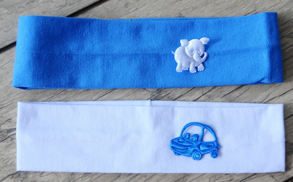 Baby & Kinder Haarband Stirnband Kopfband 40/50 cm Weiß Blau Jungen Ohrenschutz