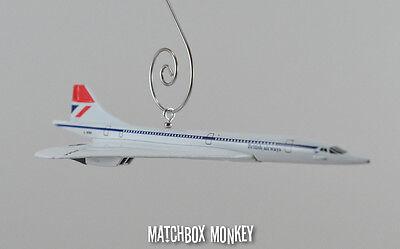 ys Concorde Jet Flugzeug Weihnachten Ornament 1/100. (Weihnachten Custome)