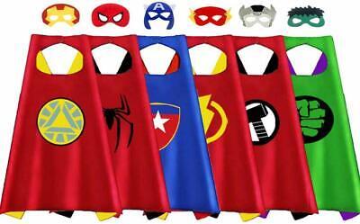 6 Superhero Capes Masks for Kids Super Heros Cosplay Costumes Halloween Dress Up](Superhero Halloween Costumes For Kids)