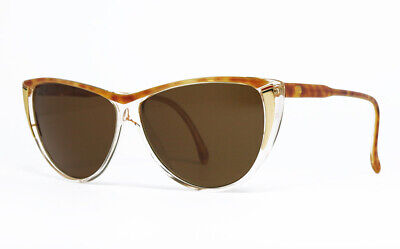 NOS VINTAGE SUNGLASSES GUCCI GG 2100 53U CLEAR MARBLED TORTOISE GOLD WOMAN FRAME