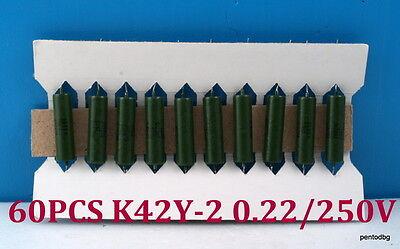 60pcs Pio Capasitors K42u-2 K42y-2 0.22uf-10 250v Military In Original Box