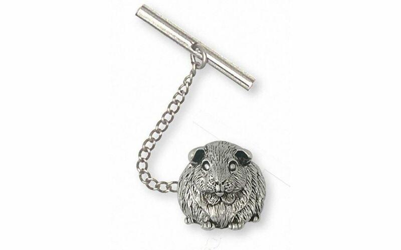 Guinea Pig Tie Tack Jewelry Sterling Silver Handmade Piggie Tie Tack GP12X-TT