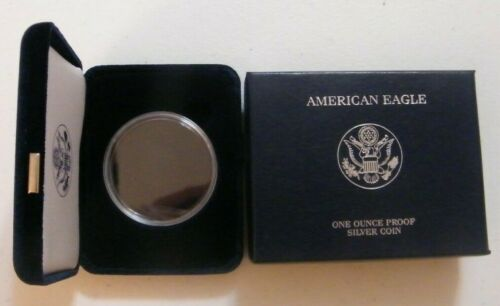 5 - American Silver Eagle US Mint Velvet Box, Case & Capsule Supplies NO COINS