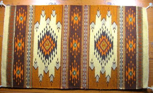 OAXACAN RUG CARPET EARTH COLORS - HAND LOOOMED WOOL MEXICAN ZAPOTEC FOLK ART