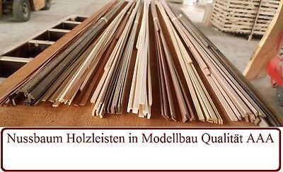 10 Nussbaum (Nussbaum Leisten Modellbau Holzleisten - verschiedene Stärken ab 10stk)