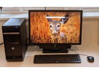 """Desktop Computer with 24"""" monitor"""