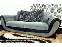 Black/grey new/ex display 3 seater*Free delivery*