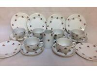VINTAGE DITSY ROSES 19 PIECE TEA SET CUPS SAUCERS PLATES AFTERNOON TEA PARTY