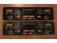 Audi number plate surrounds.