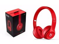 Dr Dre Beats Solo2 Red Wired Headphones Brand New & Sealed