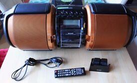 Sharp 100W Portable X-Bass Boombox GX-M10 Stereo Sound System