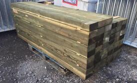 Mini Tanalised Wooden Railway Sleepers ~ 75 X 150 X 2100mm🌳