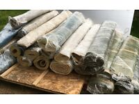 Various sized Carpets in different colours and carpet underlays