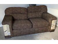 2 large 2 seater sofas