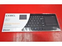 Exibel Bluetooth Wireless Keyboard with Touchpad Brand New Unused £17