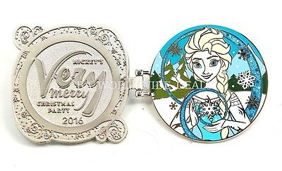 Disney Mickey's Very Merry Christmas Party 2016 Frozen Elsa Pin LE 5300