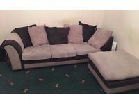Quick sale - Fabric and Leather Corner-Style Sofa £80 ONO
