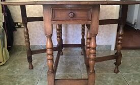 Vintage,drop leaf table with drawer