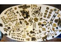 Fantastic collection of antique brass furniture and draw knobs