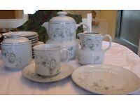 21 piece porcelain tea/coffee set