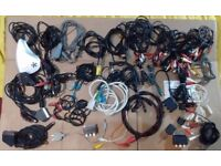 Job Lot Audio Leads / Video Cables / Leads / Scart / T.V / Coaxial