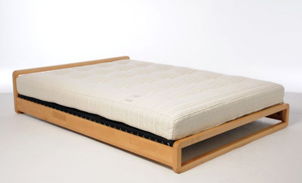 Futon Company Loop Birch Wood Bed Frame And Deep Sleep Mattress Excellent Condition Hardly Used
