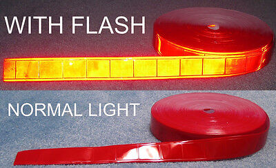 50-yard roll Red gloss sew on REFLECTIVE TAPE PVC 1