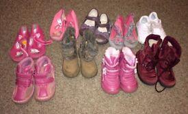 Children kids shoes boots size uk 6 or uk 6.5 (eur 23) bundle, 9 pairs