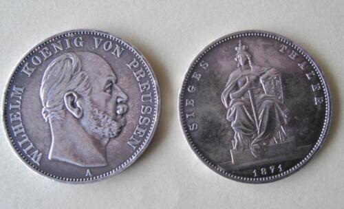 Siegestaler 1871 A Silber Wilhelm König Von Preußen 900er Silber In