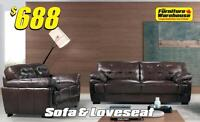 Sofa & Loveseat Only $688