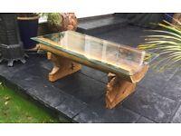Teak Tree Trunk Coffee Table, Gorgeous.......