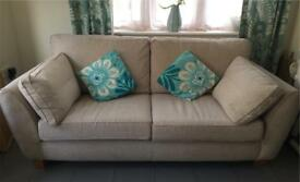 🌟 FOR SALE LOVELY NEXT LARGE 3 SEATER NEUTRAL SOFA EUC 🌟