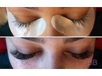 Mobile individual eyelash extensions 1D-5D Lashes first set £35