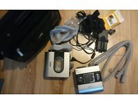 Resmed S9 AutoSet with humidifier, tubing, full face mask (M, L, XL), travel bag, sleep apap cpap